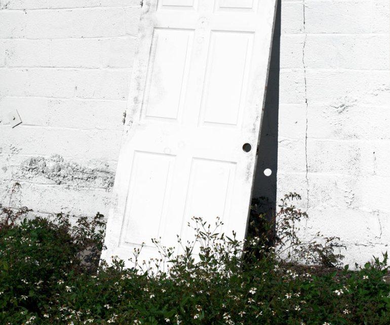 door against wall