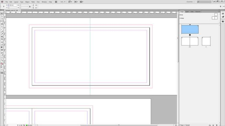 InDesign Spine Guide Setup - Guide 1