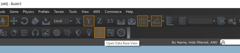 Database Editor in the EditMode Toolbar