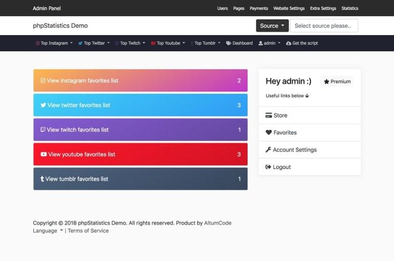 phpStatistics Social Tracking Tool