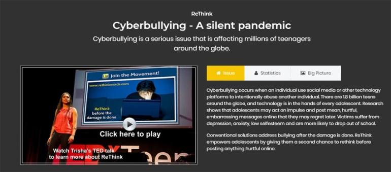 Trisha Prabhus TED Talk presentation on Cyberbullying - A silent pandemic