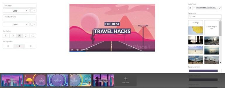Placeit Travel Hacks Blog Post Teaser Video Template