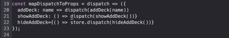 mapDispatchToProps function