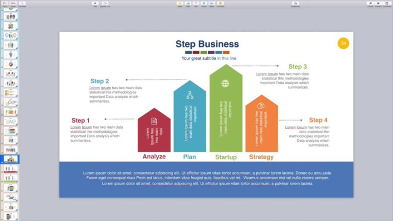 Making an infographic slide in Keynote