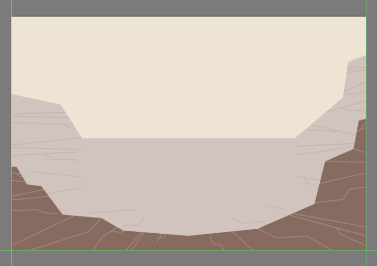 adding the detail lines to the front section of the canyon