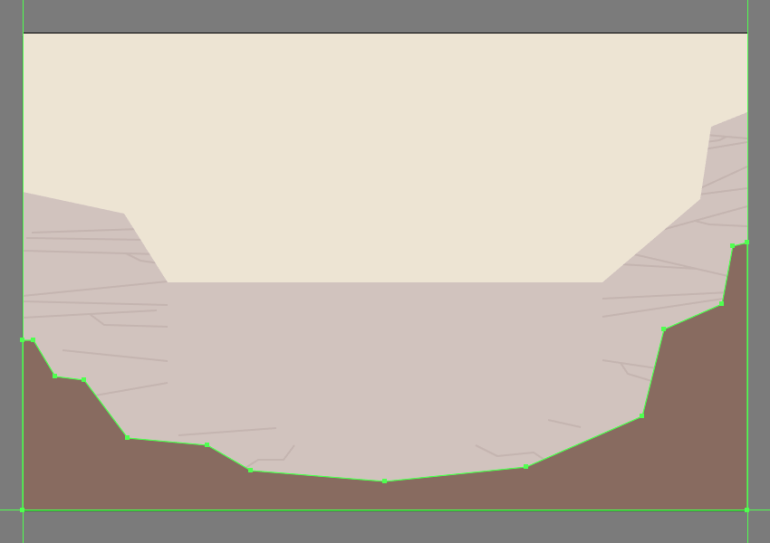 drawing the front section of the canyon