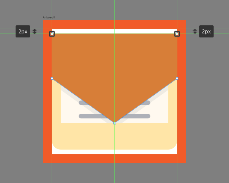 creating the clipping mask for the letter section