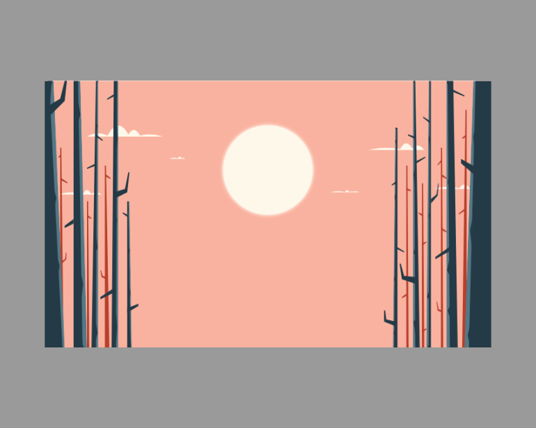 adding the background trees