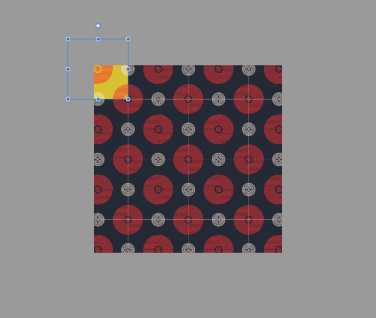 adjusting the color of a composing shape of the copy and paste pattern