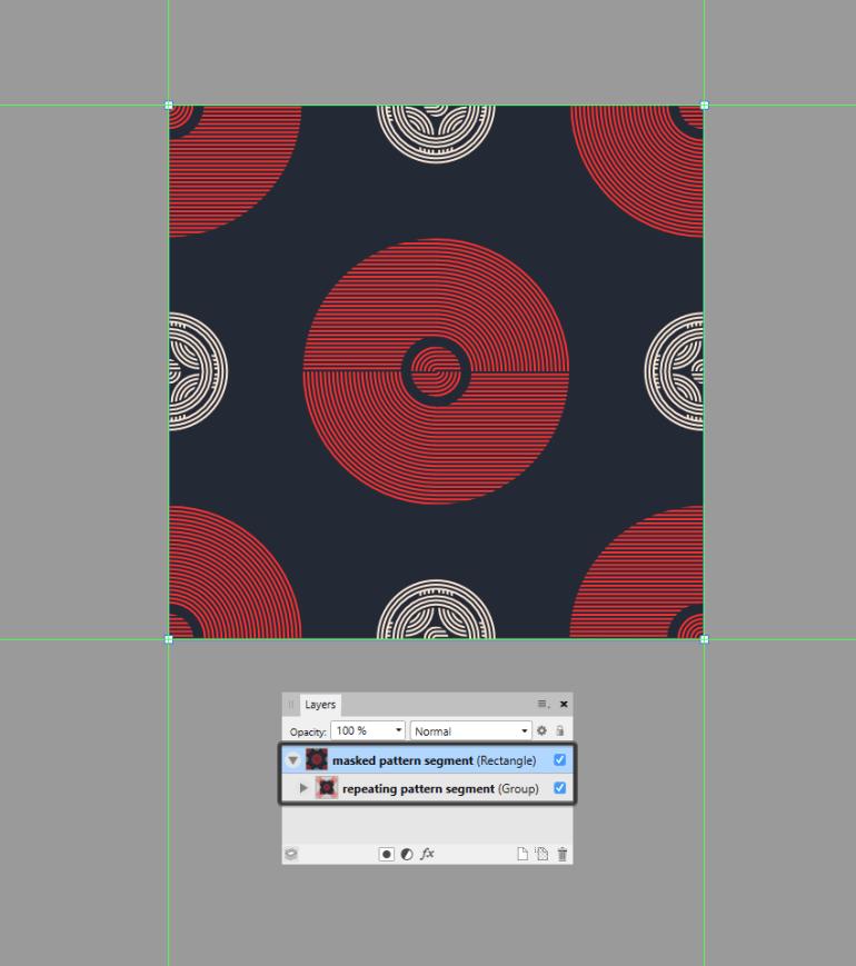 masking the repeating pattern segment
