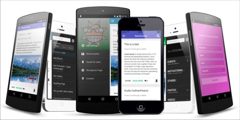 ionWordpress -Wordpress Full Integrated Mobile App