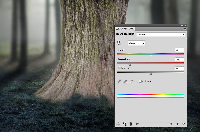 tree hue saturation