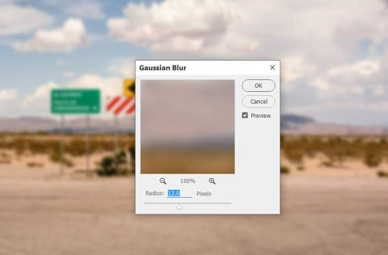 background gaussian blur