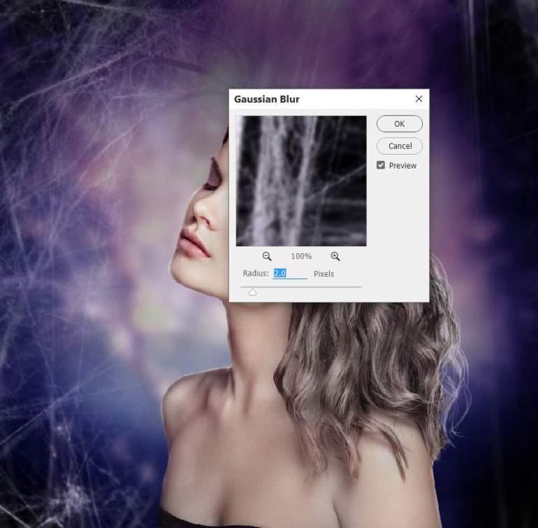 cobweb 1 gaussian blur