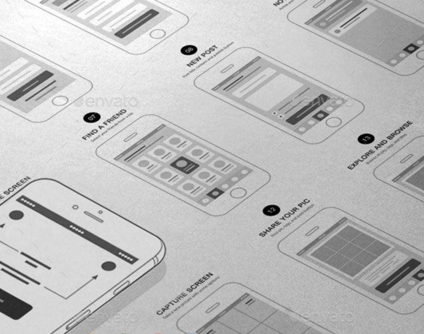 13 UI Kits for Beautiful Mobile Apps App Wireframes UI Kit