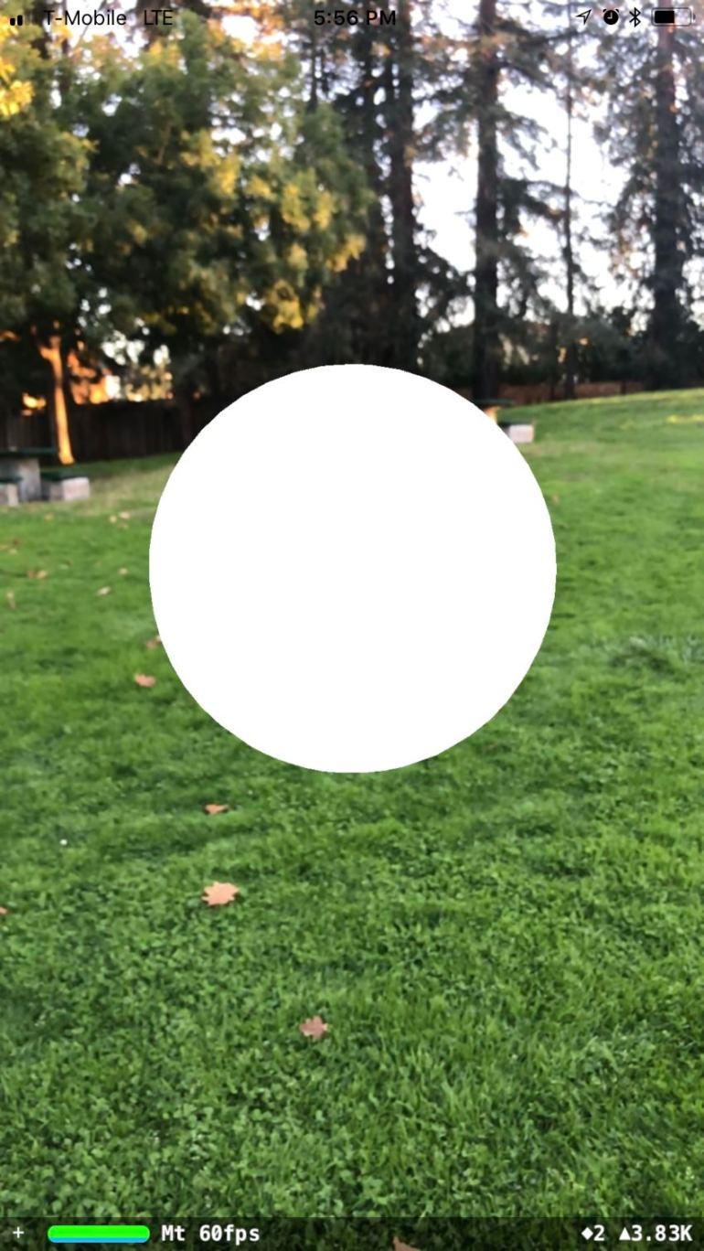 Untextured AR sphere