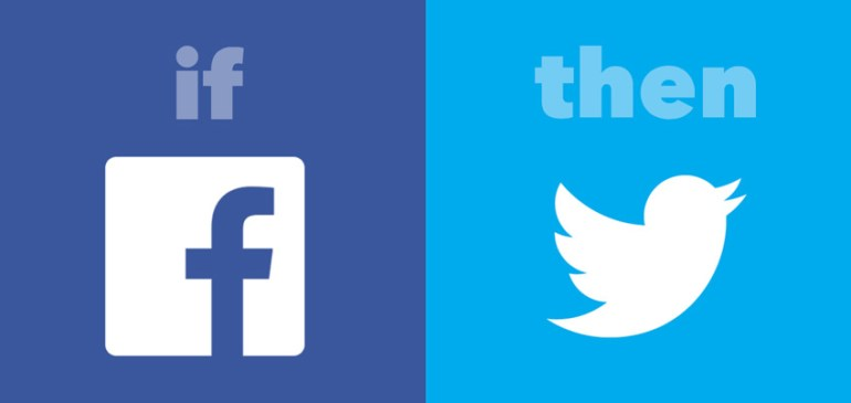 IFTTT recipe social media example