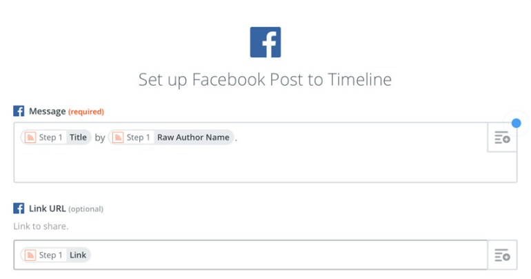 setting up Facebook post