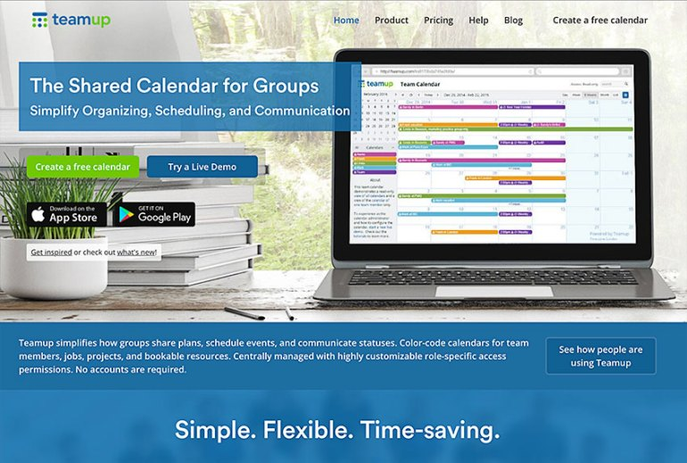 teamup shared group online calendar