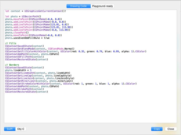 Sympli Generated Core Graphics Code