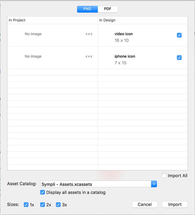 Sympli Xcode Image Import
