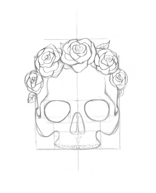 Flower Head Line Drawing : How to draw a rose crown