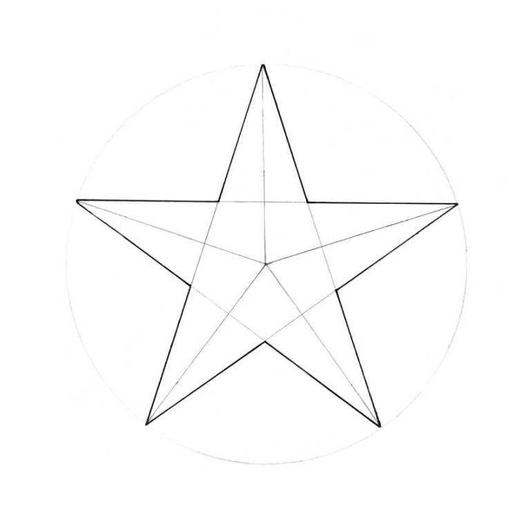 Outlining the contoursa of the star