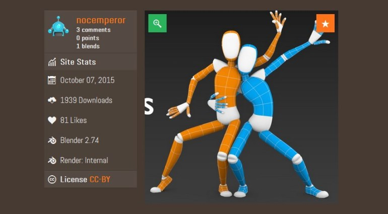 Download free character rig