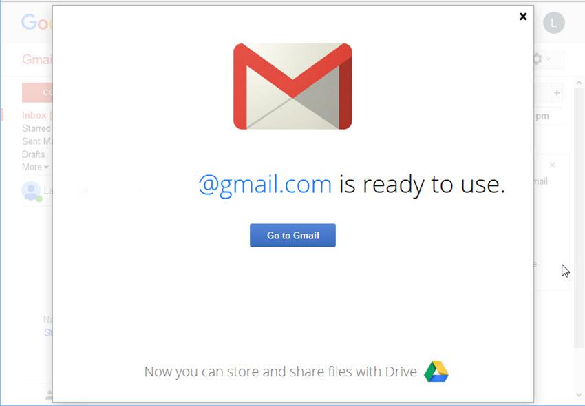 New Gmail account ready