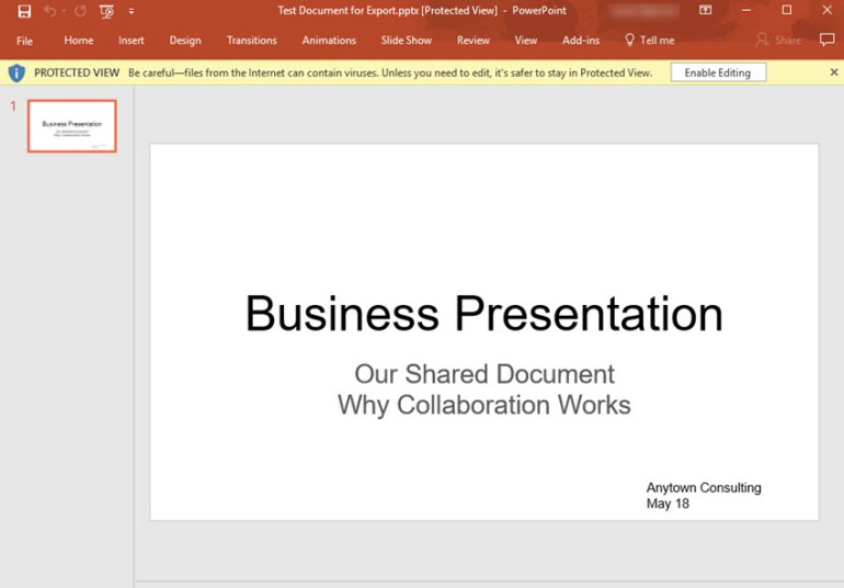 Google Slides presentation converted to PowerPoint