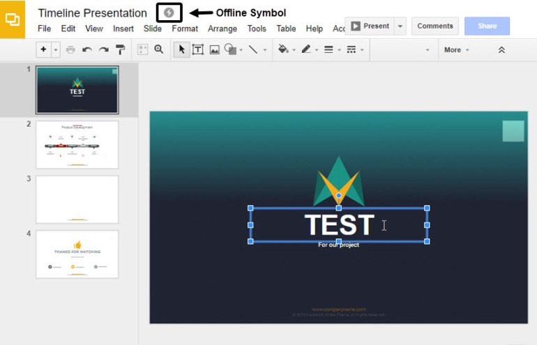 Making Google Slides Edits While Offline