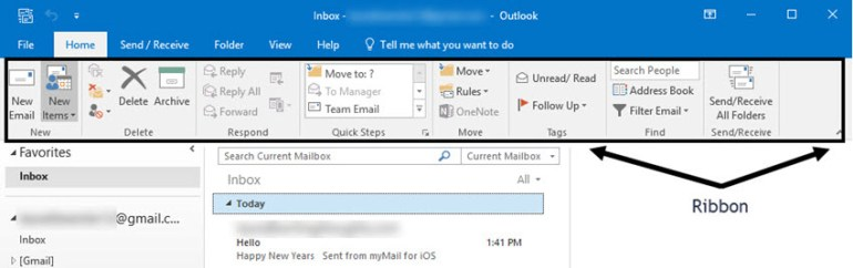 Microsoft Outlook opens