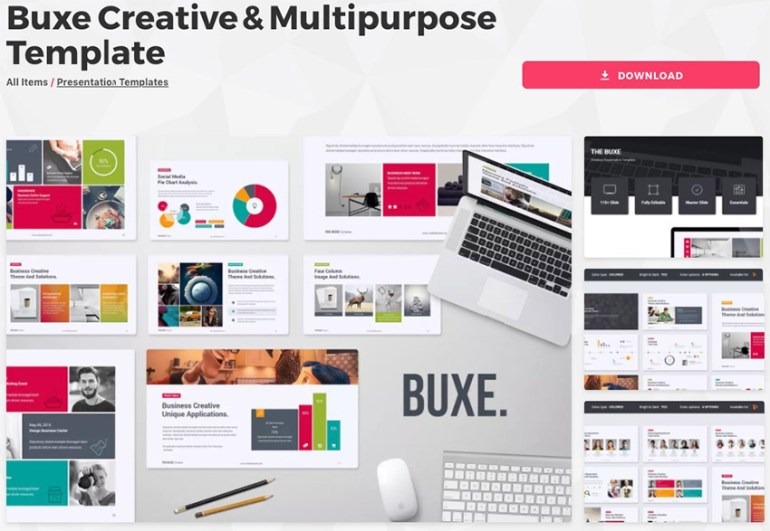 Edit PowerPoint Template Buxe Theme