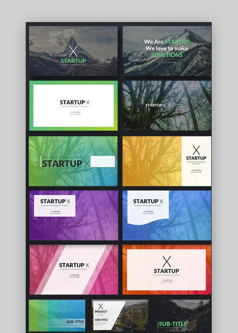 Startup X - Perfect Pitch Deck PowerPoint Template