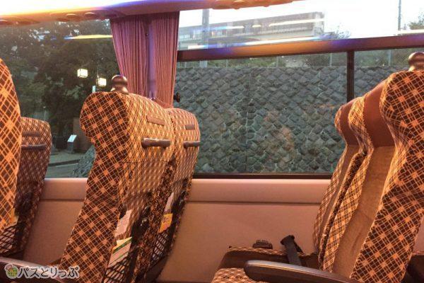帰りのバスは空席も多くゆったり座れました