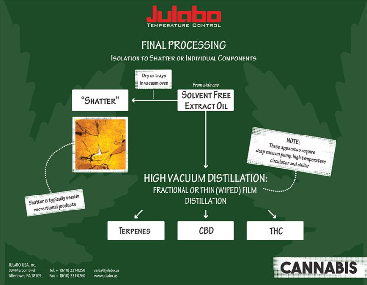 Cannabis Final Processing Components of a Rotary Evaporation