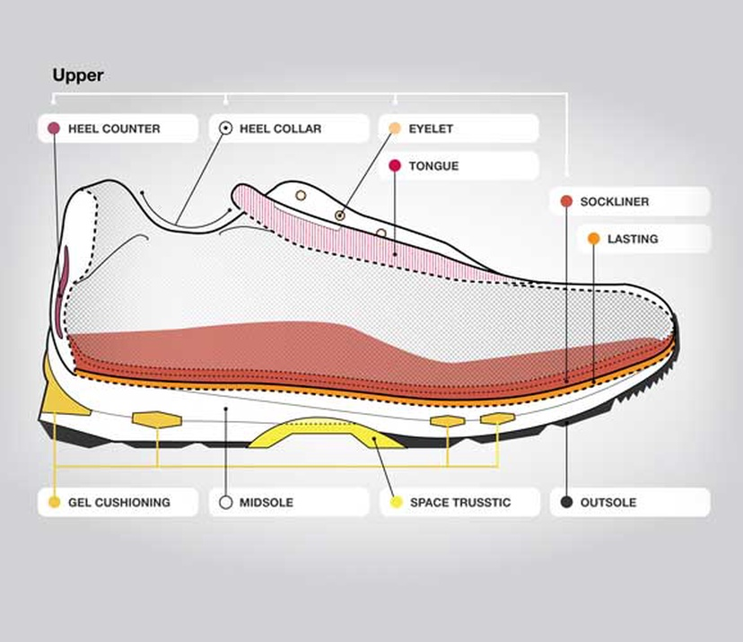 Anatomy of a Running Shoe   ASICS South Africa