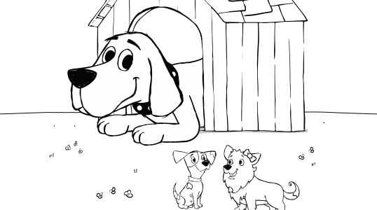 Clifford S Doghouse Coloring Page Kids Pbs Kids For Parents
