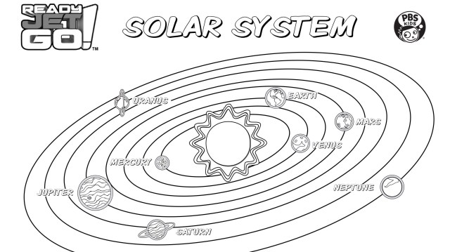 Solar System Coloring Page  Kids Coloring  PBS KIDS for Parents
