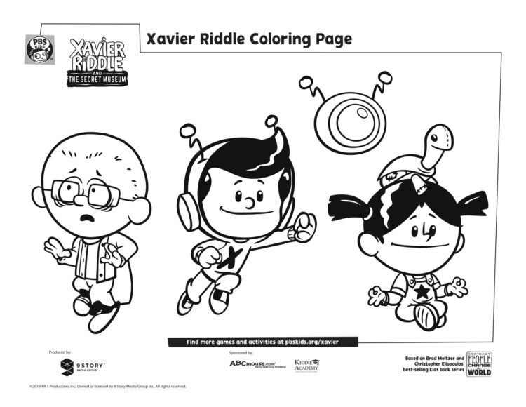 Xavier And Friends Coloring Page Kids Pbs Kids For Parents