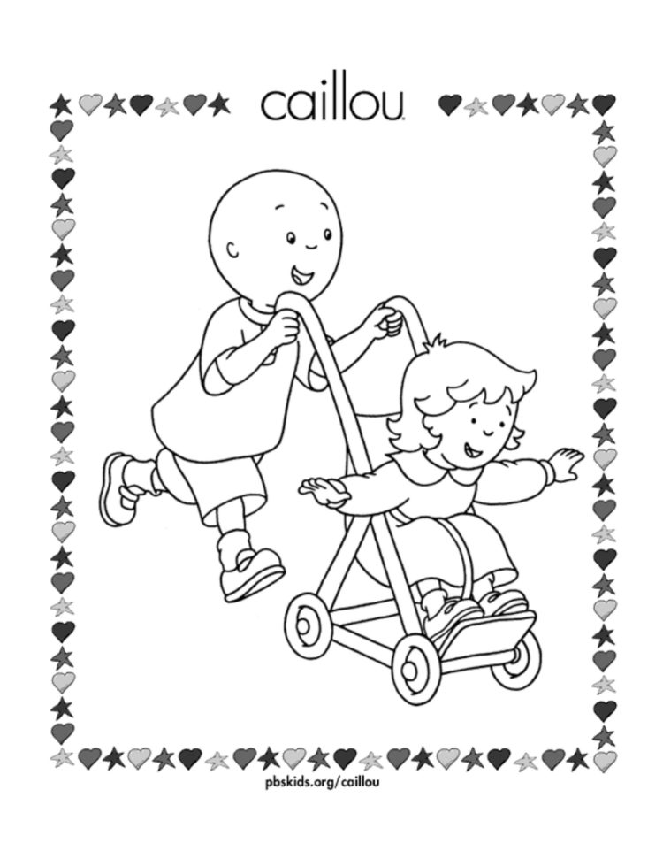 Caillou And Rosie Coloring Page Kids Coloring Pbs Kids For Parents