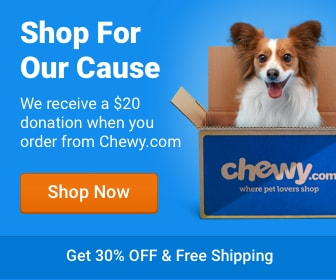Order your Pet Food at Chewy.com and Project Paws Alive will get a $20 donation!