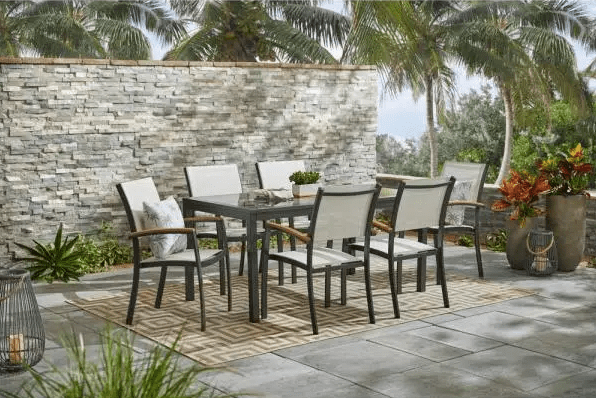 outdoor dining sets for warm weather on