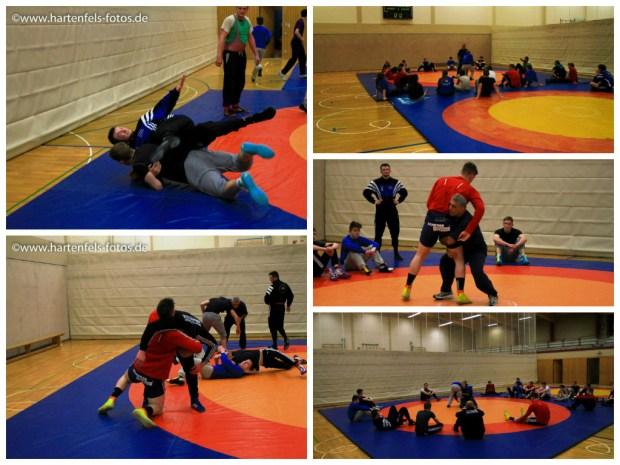 Impressionen vom gemeinsamen Training am Donnerstag mit dem ASV Boden - Fotos: Markus Hartenfels