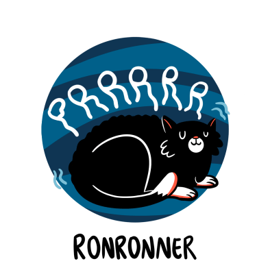 Cat purring illustration, French word for Purr