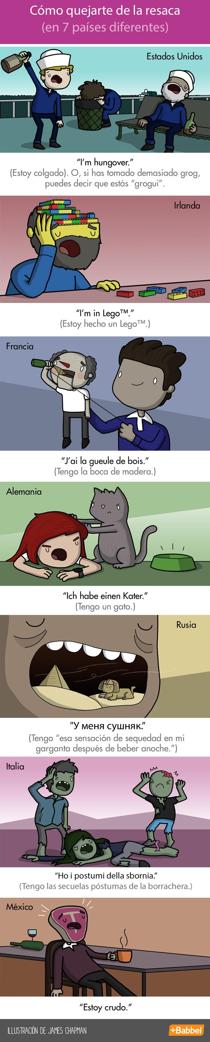 Cómo curar la resaca en diferentes países y en diferentes idiomas