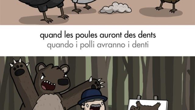 Modi di dire francesi con animali: solo non si vedono i due liocorni