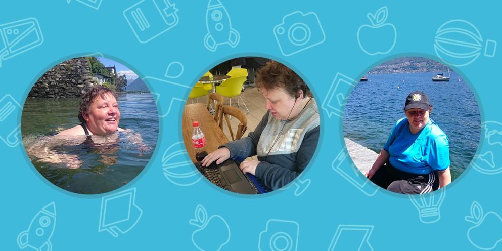 Retratos: Babbel, braille e férias de verão – Regina é cega e está aprendendo italiano on-line