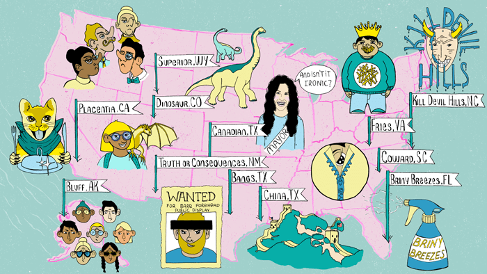 The 35 Weirdest American City Names