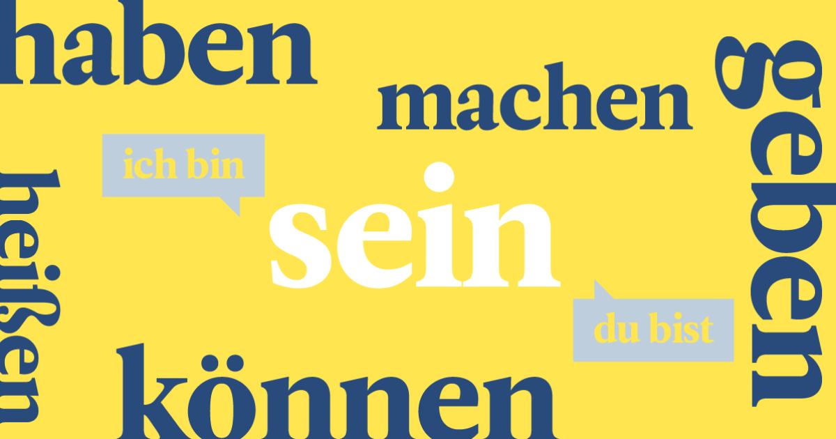 conjugaison   les 20 verbes les plus courants en allemand